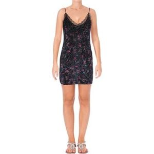 NWT Aqua Velvet Floral Print Slip Dress